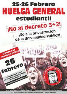 huelga de estudiantes 25-26 febrero