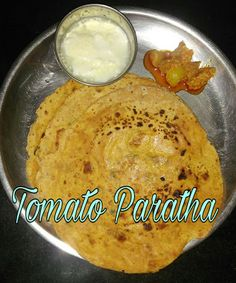 Tomato Paratha is one of my favorite break fast special recipe.           Ingredients:   Tomato - 3 nos  Whole wheat flour - 2 cups  Turme...