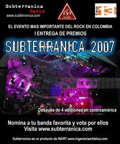 Premios Subterranica 2007