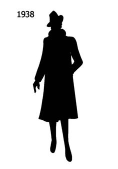 1930 to 1940 Free Black Silhouettes in Costume History - Fashion History, Costume Trends and Eras, Trends Victorians - Haute Couture Shadow Silhouette, Black Silhouette, Silhouette Cameo, Silouette Art, Free Black, Black And White, Black Costume, Scroll Saw Patterns, Silhouette Machine