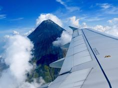 Mayon Volcano up close, from the air