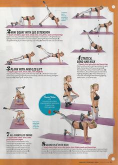 Tracy Anderson total body tone up as seen in Health magazine.  www.brooklynfitchick.com