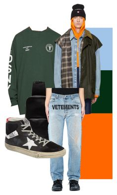 """Pai-Han Everyday Wear 1"" by theogm on Polyvore featuring Heron Preston, Vetements, Alyx, Golden Goose, men's fashion and menswear"