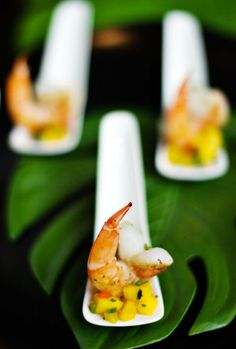 Shrimp appetizer spoons