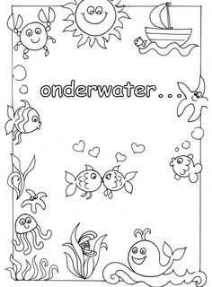 Ocean Crafts, Mermaid Birthday, School Projects, Under The Sea, Painted Rocks, Underwater, Coloring Pages, Green Day, Templates