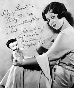 bettybooplover:    Mae Questel-the voice behind Betty Boop.