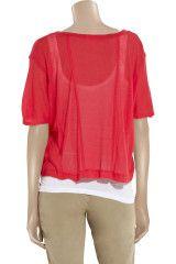 Splendid Asymmetric Jersey Tshirt in Red - Lyst