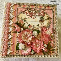 """Cheryl's Paper Creations: *For Sale* Graphic 45 """"Princess"""" Album Mini Scrapbook Albums, Mini Albums, Princess Collection, Some Times, Graphic 45, Hello Everyone, Vintage World Maps, My Etsy Shop, Paper"""
