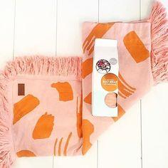 Kip & Co | Swish Swash Blanket | Orange & Peach