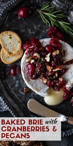 Simple elegant and EASY this Baked Brie with Cranberries and Pecans recipe comes. Simple elegant and EASY this Baked Brie with Cranberries and Pecans recipe comes together in 15 min Make Ahead Appetizers, Easy Appetizer Recipes, Appetizers For Party, Appetizer Ideas, Party Desserts, Hot Fudge Cake, Hot Chocolate Fudge, Pecan Recipes, Fudge Recipes