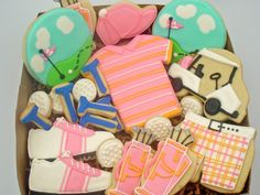 Flour Box Bakery — Pink Golf Cookies