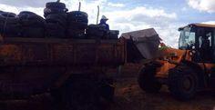 Miguel Calmon - MP apreende 10 toneladas de pneus em combate à dengue e chikungunya