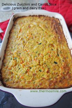thermomix paleo zucchini slice Gluten Free Cooking, Dairy Free Recipes, Paleo Recipes, Low Carb Recipes, Real Food Recipes, Cooking Recipes, Paleo Meals, Paleo Zucchini Slice, Lchf