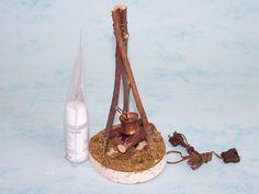 Fuegos Tripodes Fogatas - Nativity Set Belenes Laravid