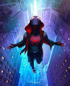 56 Trendy Wall Paper Marvel Iphone The Avengers Marvel Comics, Marvel Fan, Marvel Heroes, Spiderman Spider, Amazing Spiderman, Photographie Street Art, Miles Morales Spiderman, Miles Spiderman, Avengers Wallpaper