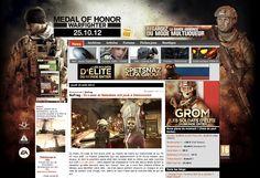 La guerre débarque à l'occasion de la Gamescom sur www.jeuxvideo.com www.team-aaa.com www.nofrag.com  et www.zeden.net avec les habillages Medal Of Honnor Warfighter pour EA.
