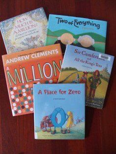Literacy and math come together: Awesome book list that teaches place value! A Place for Zero, How Much Is a Million and more!