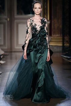 Zuhair Murad Fall/Winter 2011-2012 Couture : absolutely love the deep jewel tone and drama...