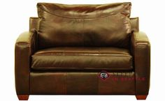 Savvy Boulder Leather Sleeper in Chesterfield Whiskey (Chair)