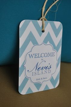 Wedding Welcome Bag Tags