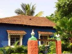 Portuguese colonial architecture in Panaji (Panjim), Goa, India.