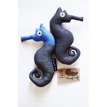 Wee Gallery blue seahorse toy