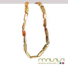 #collar de #perlas cultivadas doradas. Disponible en tienda online. #necklace #accesorios #moda http://malalam.myshopify.com/collections/collares-2/products/coll-perlas-doradas?variant=1092745821
