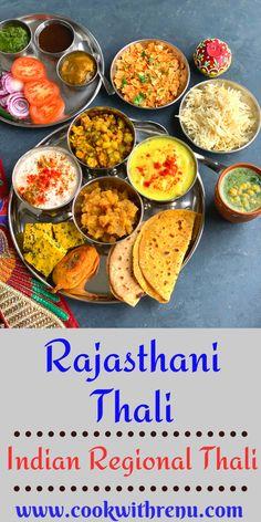 This Rajasthani Thali is a delicious thali which is made from pantry staple or cupboard ingredients and features less famous dishes of Rajasthan like Papad ki Kadhi and Mangodi ki sabji. . #recipe #thali #Rajasthani #regional #regionalfood #regionalcuisine #northIndian #delicious #food #yummy #easy #meals #partyplanning #menuplanning #papadkadhi #mangodi #boondiraita #papadchuri #mirchivada #pithore #salad #chutney #jaljeera #jeerarice North Indian Recipes, Indian Food Recipes, Kids Meals, Easy Meals, Tasty Vegetarian Recipes, Friend Recipe, Indian Kitchen, Fusion Food, Meatless Monday