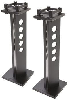 Speaker Stands with IsoAcoustics Acoustic Isolation, x Base, x Top, and 75 lbs. Capacity - One Pair Recording Studio Furniture, Audio Stand, Audio Rack, Monitor Stand, Speaker Stands, Base, Audiophile, Photo Studio, Studio Design