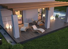 Pin on houses - grumpy :) Although age-old around thought, your pergola has been encountering Deck With Pergola, Outdoor Pergola, Backyard Pergola, Backyard Landscaping, Terrace Design, Backyard Garden Design, Patio Design, Exterior Design, House Outside Design