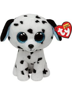 Claires : Ty Beanie Boos Medium Georgia the Dalmatian Plush Toy Ty Beanie Boos, Beanie Boo Dogs, Beanie Babies, Ty Animals, Plush Animals, Big Eyed Stuffed Animals, Ty Peluche, Ty Babies, Ty Toys