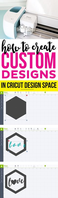 Use this tutorial to Create Custom Designs in Cricut Design Space. You can use y… Use this tutorial to Create Custom Designs in Cricut Design Space. You can use your designs for Vinyl projects, print and cut, t-shirt designs, and more! Diy Craft Projects, Craft Ideas, Diy Crafts, Fabric Crafts, Paper Crafts, Shirt Design Maker, Cricut Explore Projects, Cricut Vinyl Projects, Cricut Cuttlebug