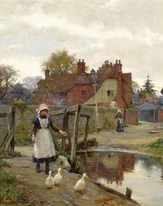 The Truants, William Teulon Blandford Fletcher. (1858 - 1936)