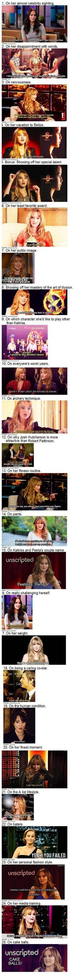 Jennifer Lawrence's brilliance…