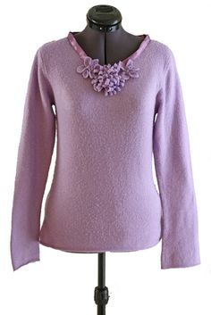 ReInventions - Violet Flowers Sweater - Melly Sews