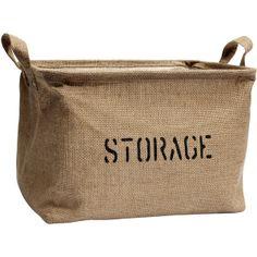 H&M Storage basket ($13) found on Polyvore