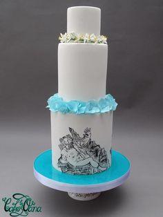 Bernini inspired Wedding cake by cakesbyoana - http://cakesdecor.com/cakes/268605-bernini-inspired-wedding-cake