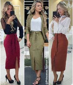New womens business attire blouses ideas Office Fashion Women, Curvy Women Fashion, Work Fashion, Fashion Outfits, Casual Fall Outfits, Classy Outfits, Trendy Clothes For Women, Suits For Women, Cute Skirts