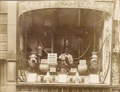 Firefly Garden - Atkins & Turton coffee and tea merchants, UK. Vintage Coffee Shops, Vintage Shops, Mison, Coffee Spoon, Coffee Talk, Drink Coffee, Coffee Break, Vintage Poster, Latte Art