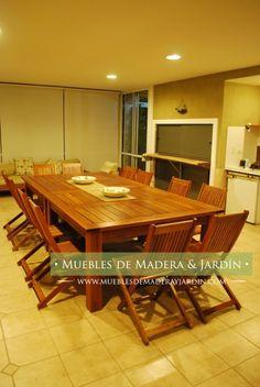 mesa rectangular para quincho