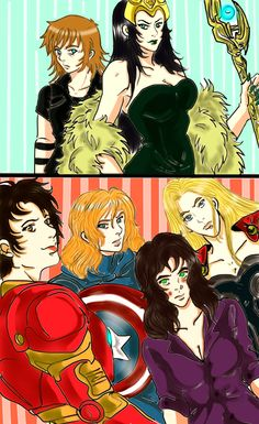 femslash comic | Avengers Gender Bender Comic Cover by LucLeon on deviantART
