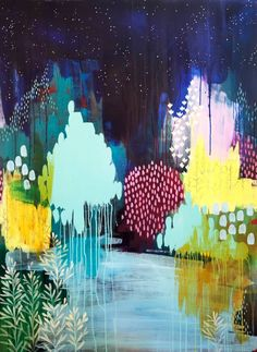 On The Last Night by Clair Bremner (Australia), acrylic on canvas, 47.2 H x 35.4 W x 1.2""