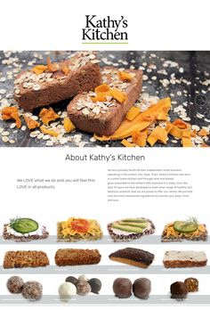 A single page website for kathy's Kitchen with a downloadable pdf product list.  Photography by JacciR Design #foodphotography #design #webdesign #foodwebsite #foodphotography Product List, Food Website, Food Photography, Web Design, Pdf, Kitchen, Design Web, Cooking, Kitchens