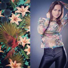 #kociara #printadress #spoonflower #textile #fabric design #print design #illustration #floral #flowers #fashion #tropical #lily | Flickr - ...