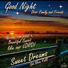 Good Night, God bless.