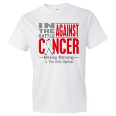 In The Battle Against Lung Cancer Men's Fashion T-Shirts #LungCancerShirts #BattleAgainstCancer #LungCancerAwareness