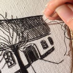 """439 Likes, 11 Comments - Elin Pettersson (@petronella.art) on Instagram: """"Got a request on how I do the roof - here is a closeup video that shows more of the process! Thanks…"""""""