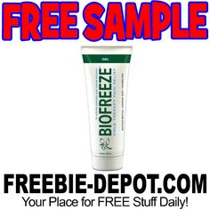 ►► FREE SAMPLE - BioFreeze Cold Therapy Pain Relief Gel - FREE Sample Pack of Topical Pain Reliever ►► #BioFreeze, #Free, #FREESample, #FREEStuff, #Freebie, #Frugal ►►