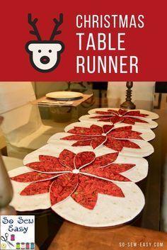 Christmas Table Runner and Some Beginner Quilting https://so-sew-easy.com/christmas-table-runner-quilting/? #Christmas #tablerunner #sewing