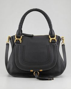Marcie Medium Shoulder Bag, Black  by Chloe at Neiman Marcus.